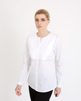 white Carolyn Donnelly The Edit Collarless Shirt