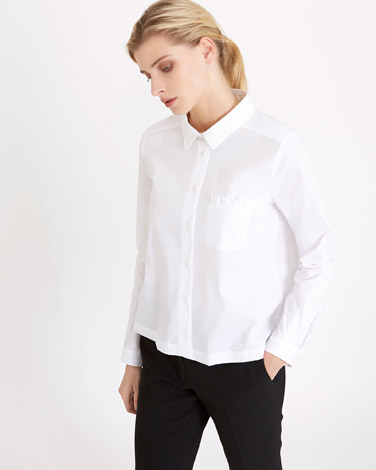 white Carolyn Donnelly The Edit Frill Pocket Shirt