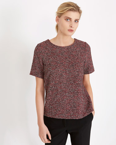 red Carolyn Donnelly The Edit Tweed Top