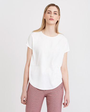 cream Carolyn Donnelly The Edit Satin Shift Top