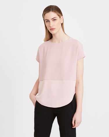 rose Carolyn Donnelly The Edit Satin Shift Top