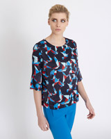 print Carolyn Donnelly The Edit Origami Print Top