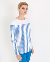 blue Carolyn Donnelly The Edit Breton Stripe Top