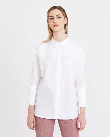 white Carolyn Donnelly The Edit Pleat Cuff Shirt