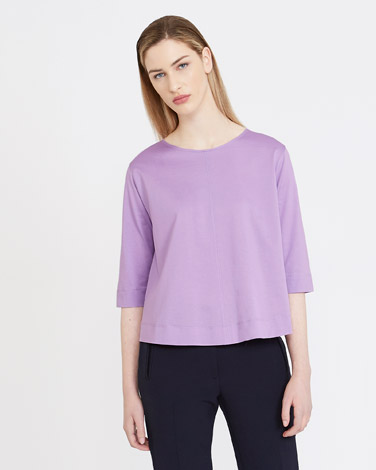 lilac Carolyn Donnelly The Edit Cotton Top