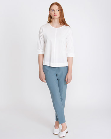 cream Carolyn Donnelly The Edit Cotton Top