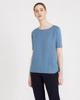 blue Carolyn Donnelly The Edit Jersey Side Top