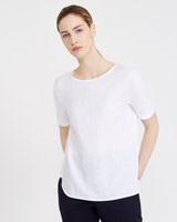 white Carolyn Donnelly The Edit Jersey Side Top