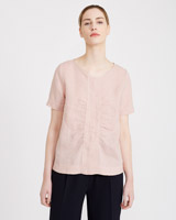 rose Carolyn Donnelly The Edit Gathered Top