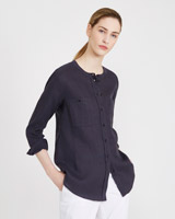 petrol Carolyn Donnelly The Edit Linen Shirt