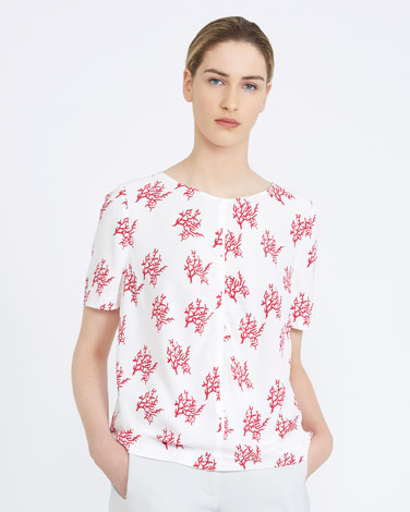 printCarolyn Donnelly The Edit Coral Print Top