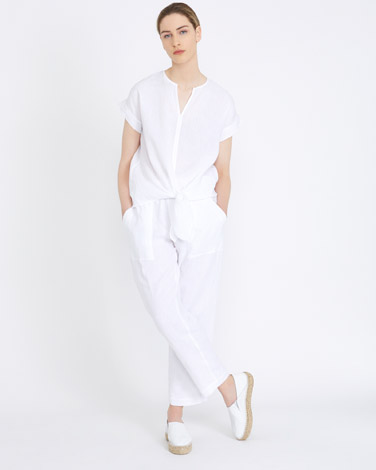 whiteCarolyn Donnelly The Edit Tie Front Top