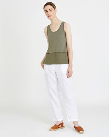 Carolyn Donnelly The Edit Linen Hem Singlet