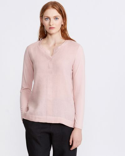 Carolyn Donnelly The Edit Bar Tack Linen Blouse