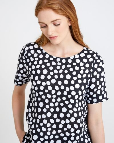 Carolyn Donnelly The Edit Print Spot Linen Top