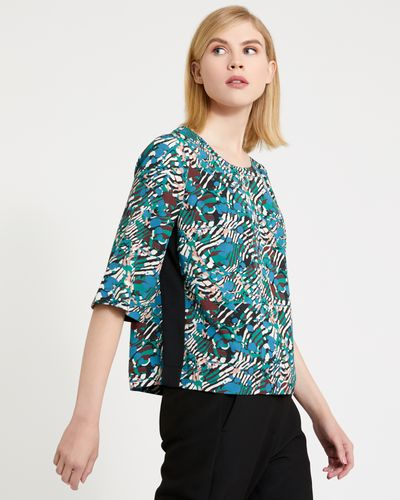 Carolyn Donnelly The Edit Animal Print Top