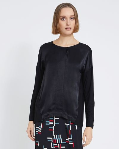 Carolyn Donnelly The Edit Satin Front Top