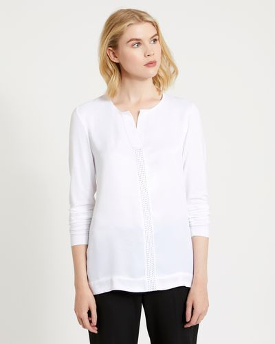 Carolyn Donnelly The Edit Top Stitch Blouse