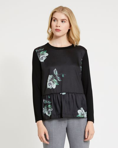 Carolyn Donnelly The Edit Printed Gathered Top