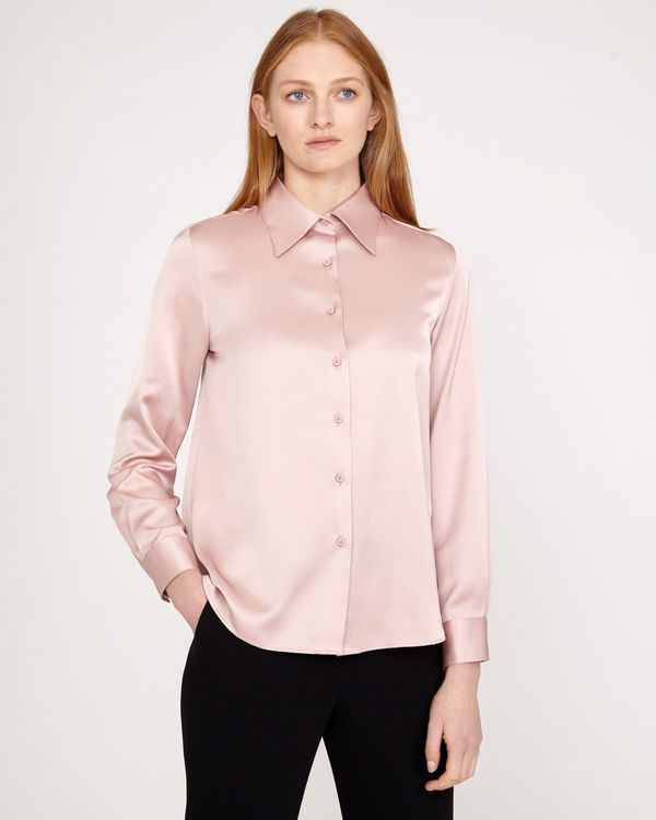 Carolyn Donnelly The Edit Poly Satin Blouse