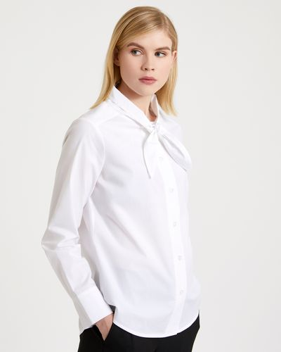 Carolyn Donnelly The Edit Tie Neck Cotton Shirt