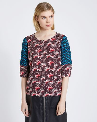 Carolyn Donnelly The Edit Mixed Print Top