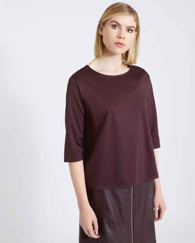 Carolyn Donnelly The Edit Curved Hem Cotton Top