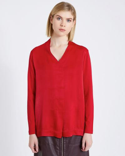 Carolyn Donnelly The Edit V Neck Pleat Blouse