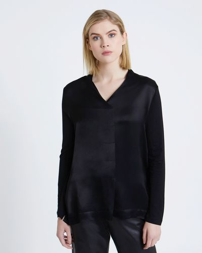 Carolyn Donnelly The Edit V-Neck Pleat Blouse