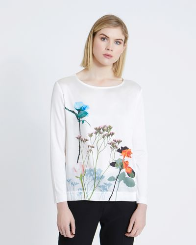 Carolyn Donnelly The Edit High Low Floral Print Top