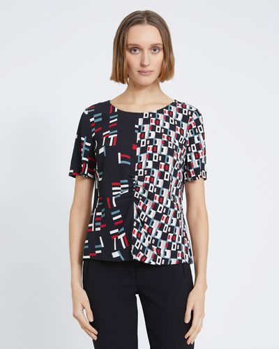Carolyn Donnelly The Edit Geo Print Top
