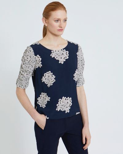 Carolyn Donnelly The Edit Petal Print Top