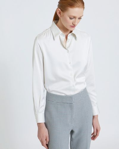 Carolyn Donnelly The Edit Poly Satin Blouse thumbnail