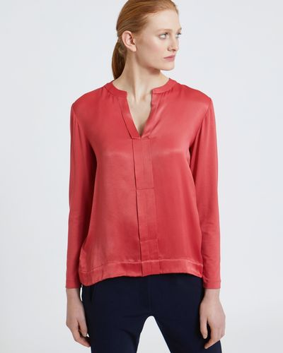 Carolyn Donnelly The Edit Pleat Bar-Tack Blouse