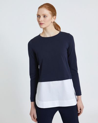 Carolyn Donnelly The Edit Cotton Shirt Hem Top