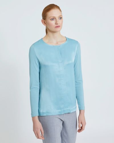 Carolyn Donnelly The Edit Button Bar-Tack Blouse