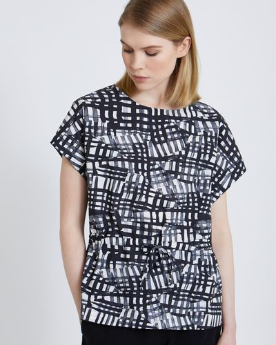 Carolyn Donnelly The Edit Drawstring Printed Top