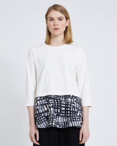 Carolyn Donnelly The Edit Printed Tunic Flared Top thumbnail