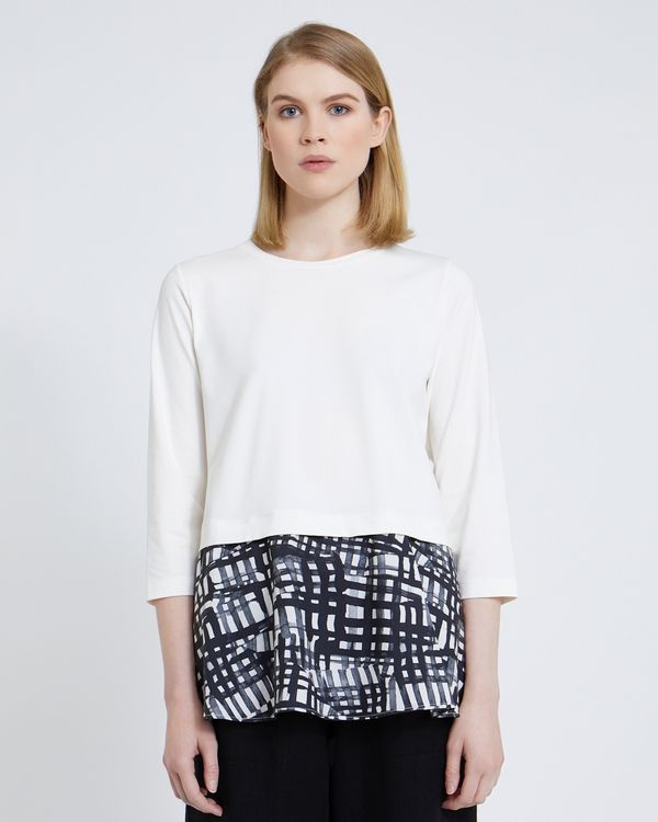 Carolyn Donnelly The Edit Printed Tunic Flared Top