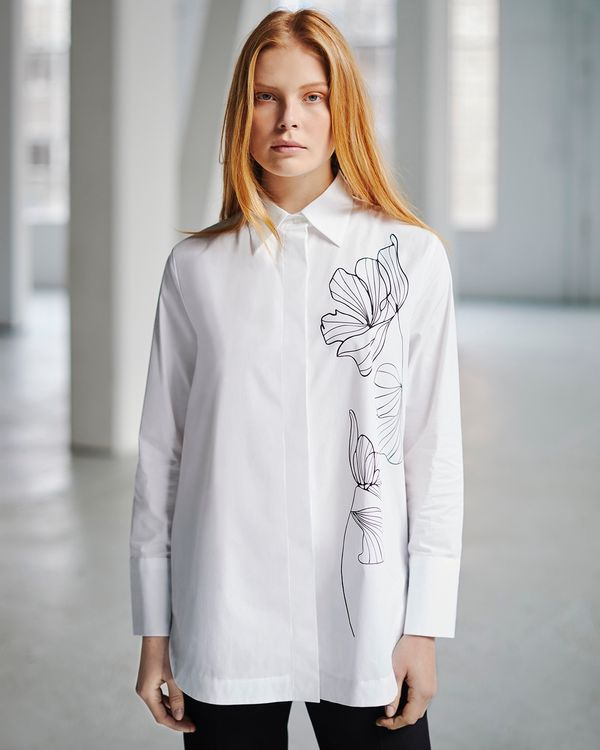 Carolyn Donnelly The Edit Placement Print Shirt