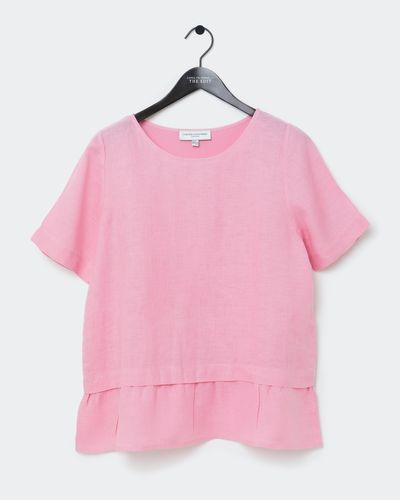 Carolyn Donnelly The Edit Gathered Hem Linen Top