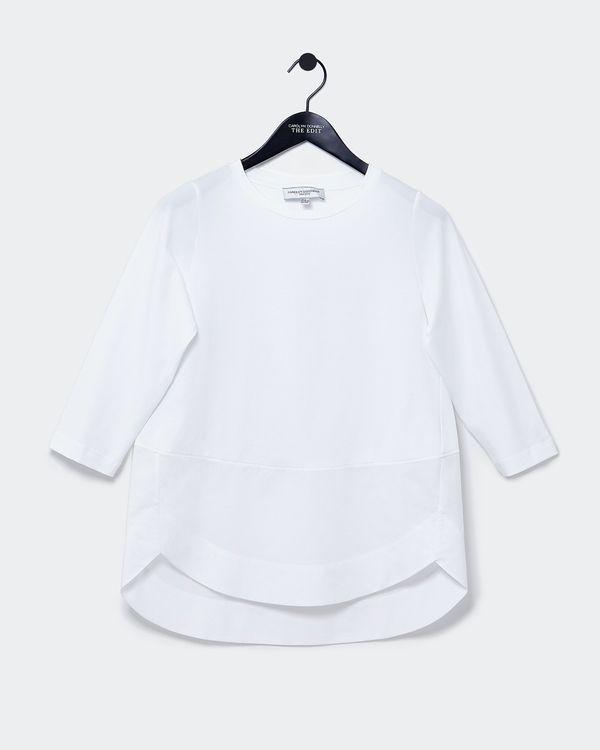Carolyn Donnelly The Edit Shirt Hem Cotton Top