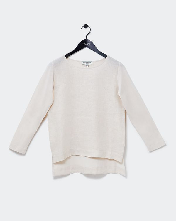 Carolyn Donnelly The Edit High Low Linen Top