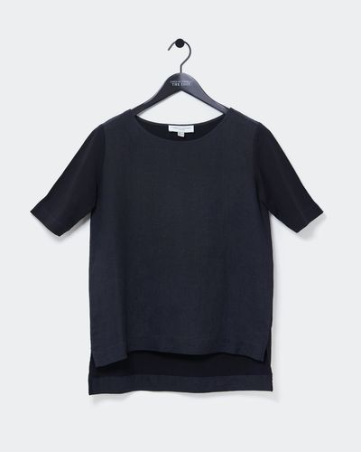 Carolyn Donnelly The Edit High Low Linen Top thumbnail