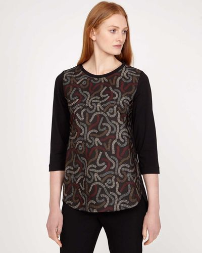 Carolyn Donnelly The Edit Squiggle Print Top thumbnail