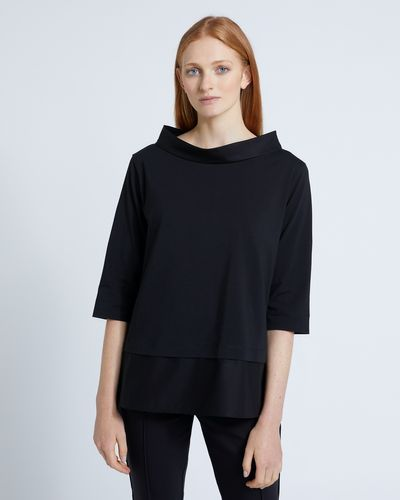 Carolyn Donnelly The Edit Black Funnel Neck Top