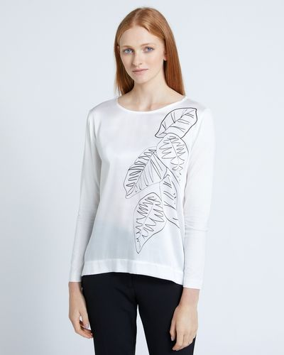 Carolyn Donnelly The Edit Leaf Print Top thumbnail