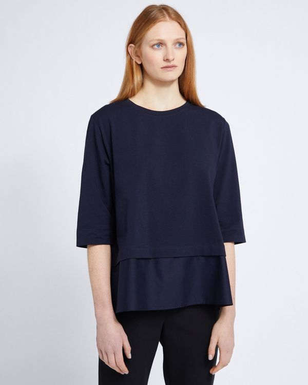 Carolyn Donnelly The Edit Cotton Hem Top