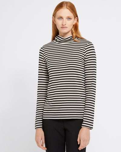 Carolyn Donnelly The Edit Stripe Jersey Polo