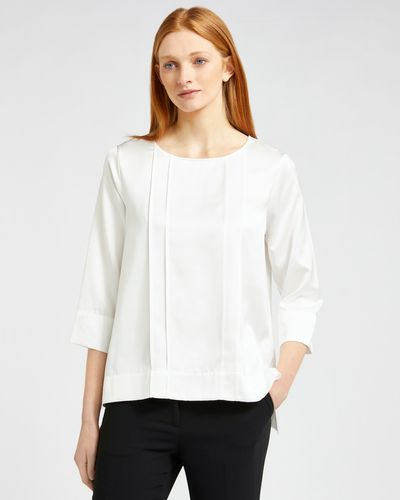 Carolyn Donnelly The Edit Pleat Front Satin Blouse thumbnail